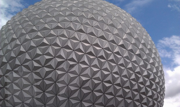 Spaceship Earth as we passed by on the Monorail
