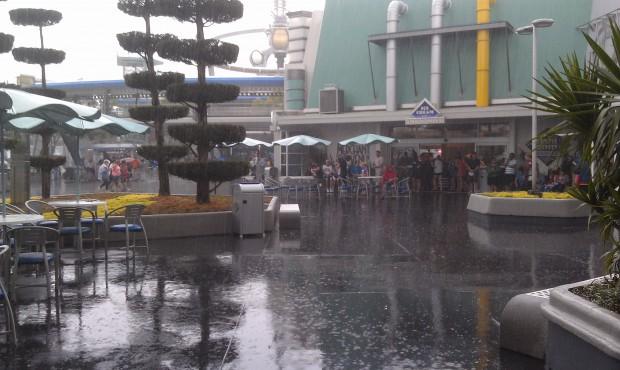 Still raining in Tomorrowland