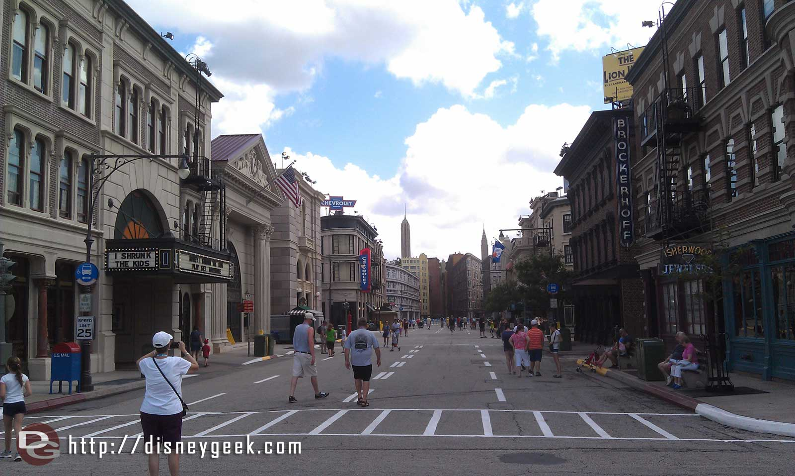 Streets of America this morning