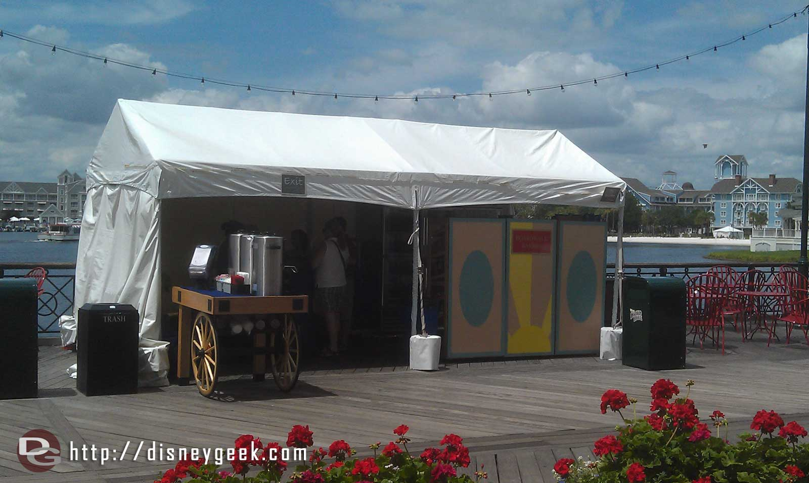 The Boardwalk Bakery is in a tent on the Boardwalk during rennovations