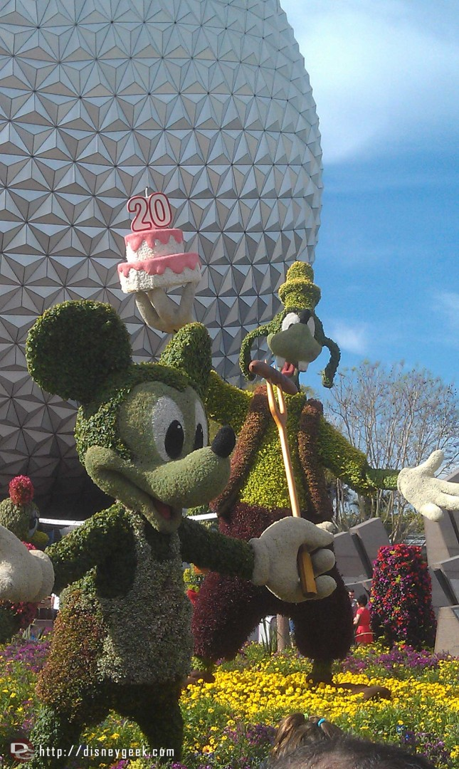 The Epcot International Flower and Garden Festival celebrates 20 years (Disney Afternoon theme was playing)