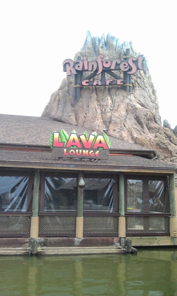 The Lava Lounge at the Rainforest Cafe , still under construction