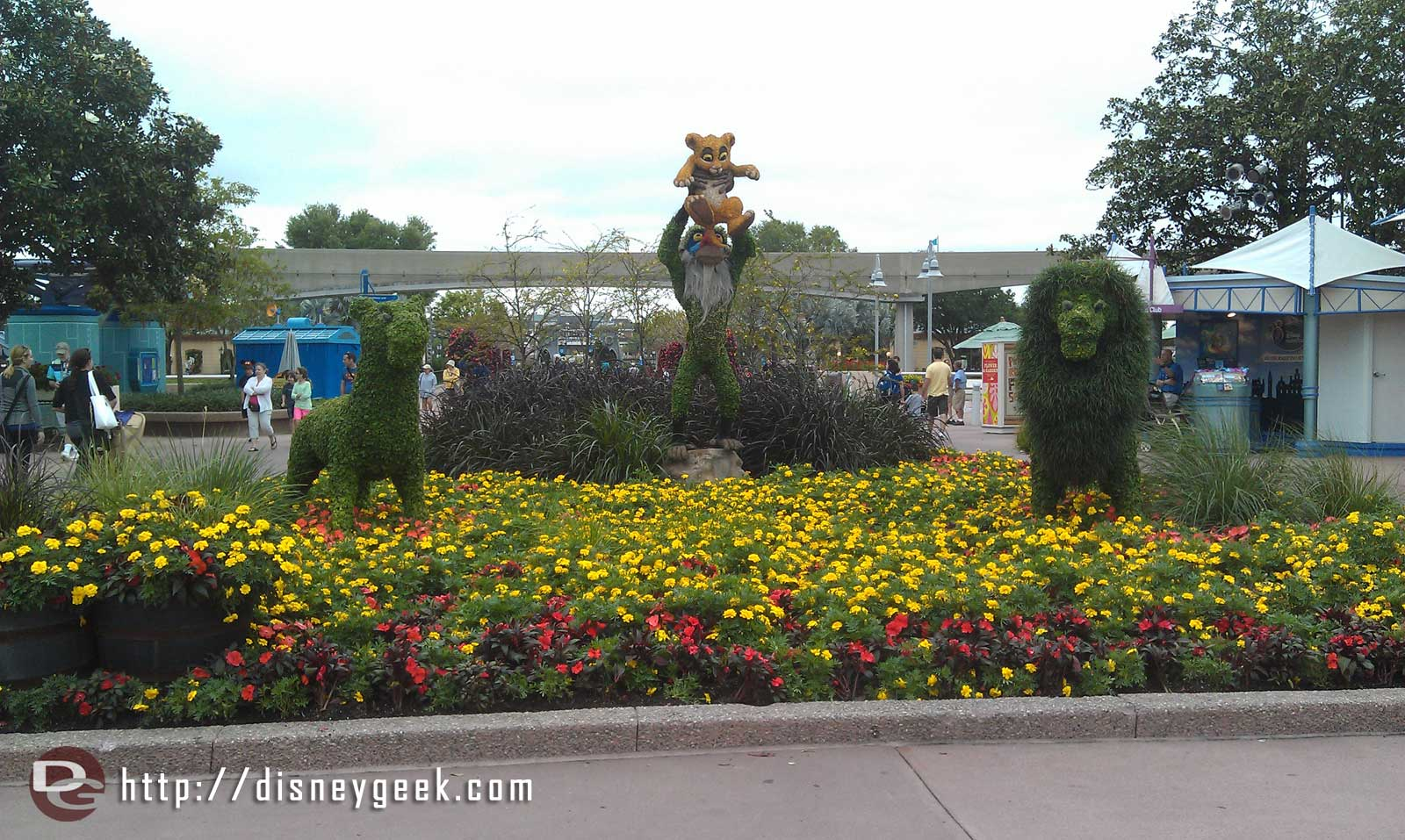 The Lion King topiaries