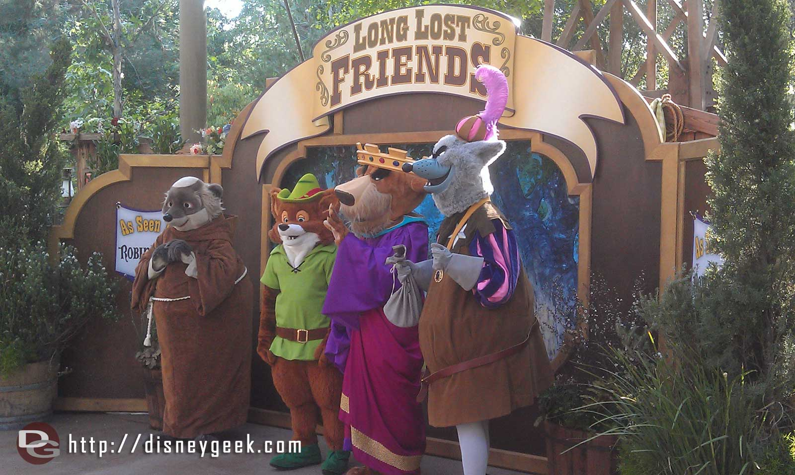 The Robin Hood cast at #longlostfriends week at the Big Thunder Jamboree #limitedtimemagic