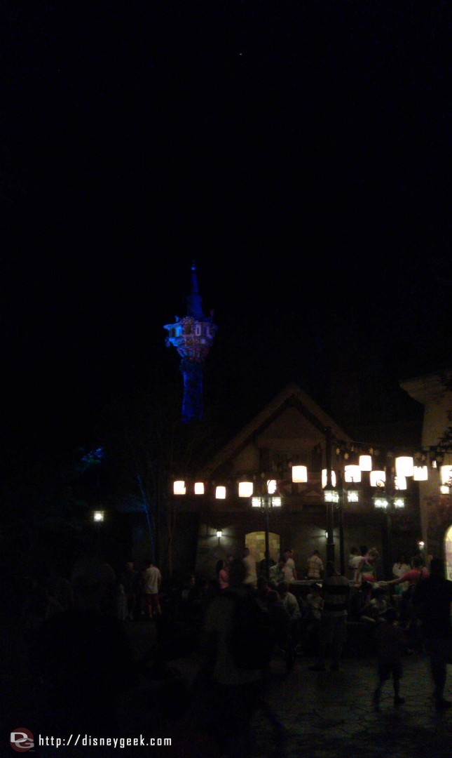 The Tangled Restroom area afterdark, the cell phone does not do it justice