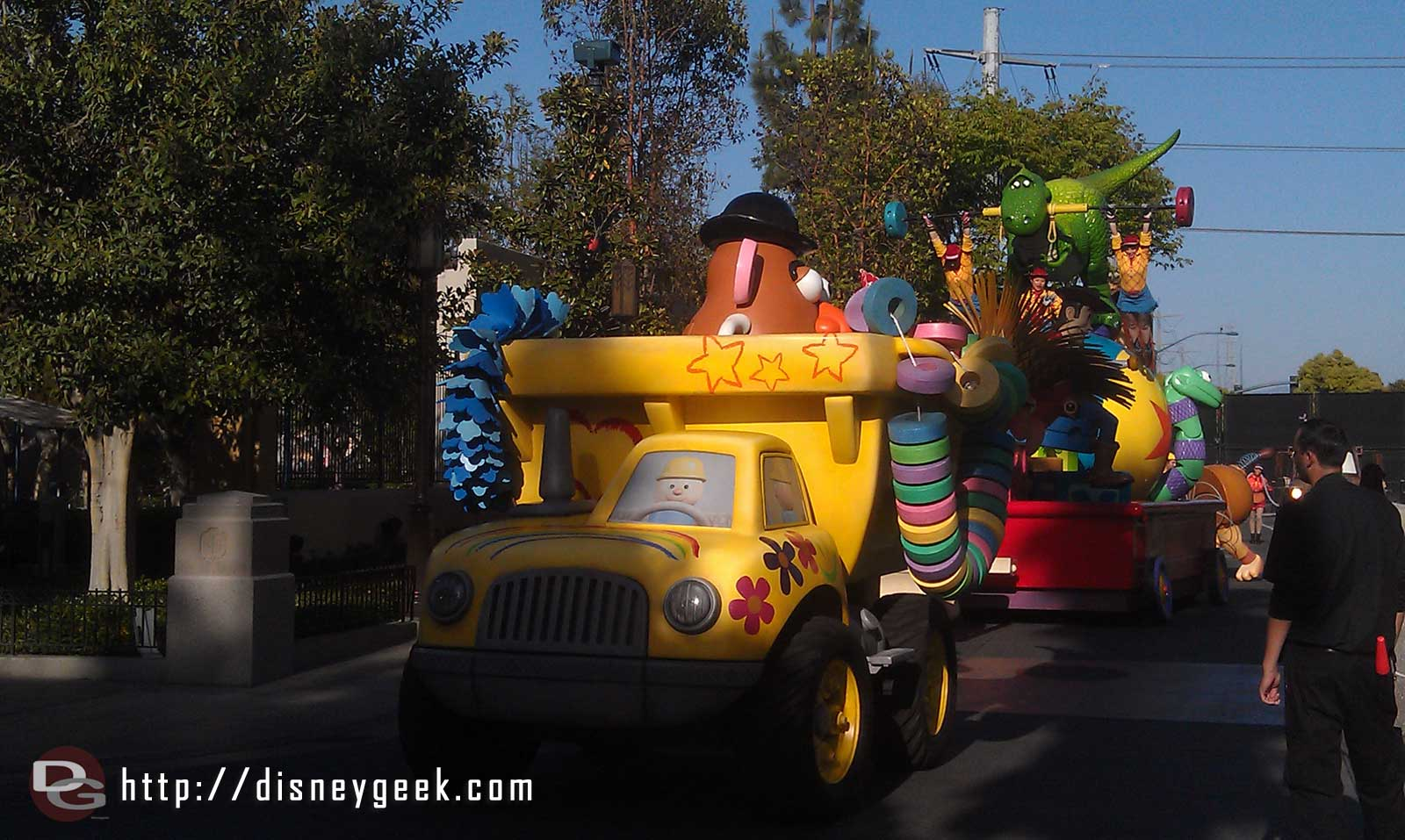 The Toy Story segment rolling along in the Pixar Play Parade