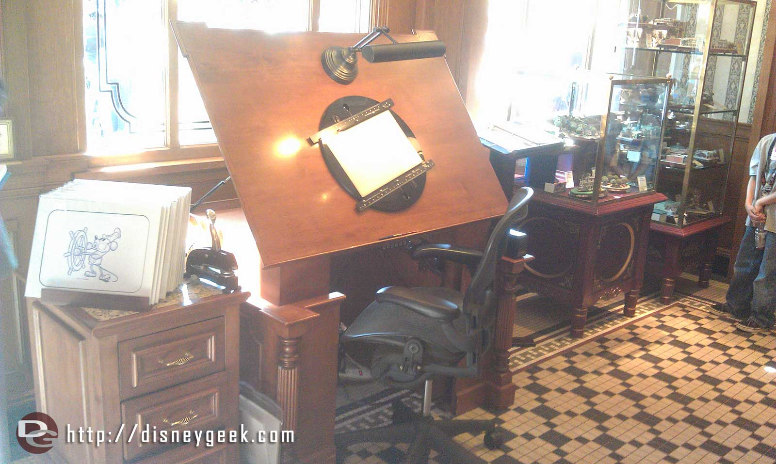 The animation desk from Disneyana is in the Disney Gallery now