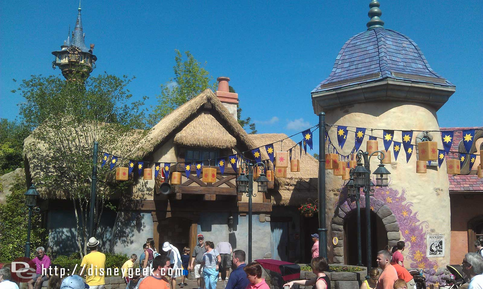 The famous new Tangled Restrooms in Fantasyland.
