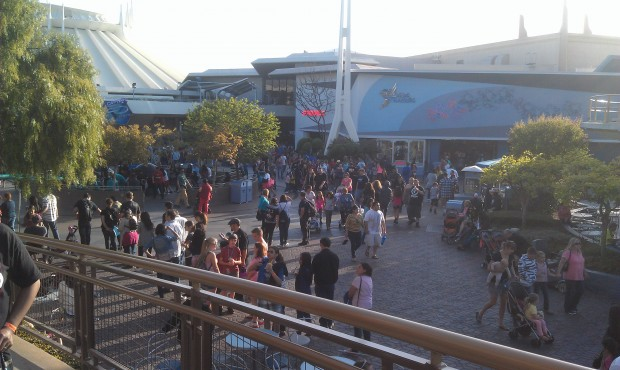 The line now stretches into Tomorrowland, up the ramp of Innoventions and wraps on the 2nd story