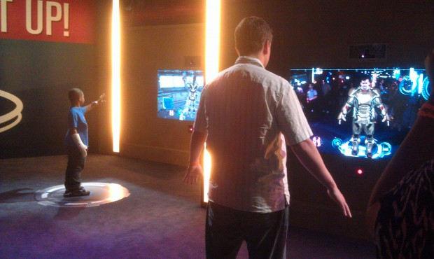 The suit up interactive experience where you virtually try out one of the suits