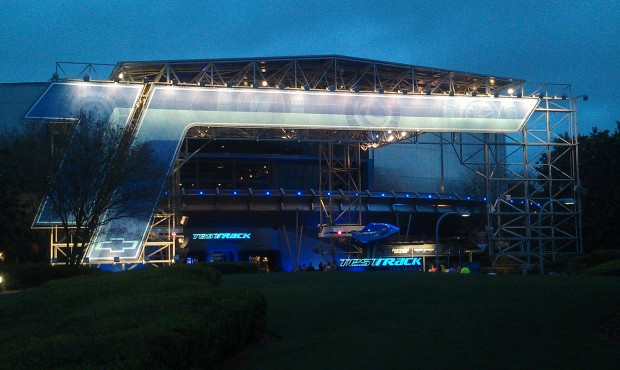 Walked by Test Track, it was down