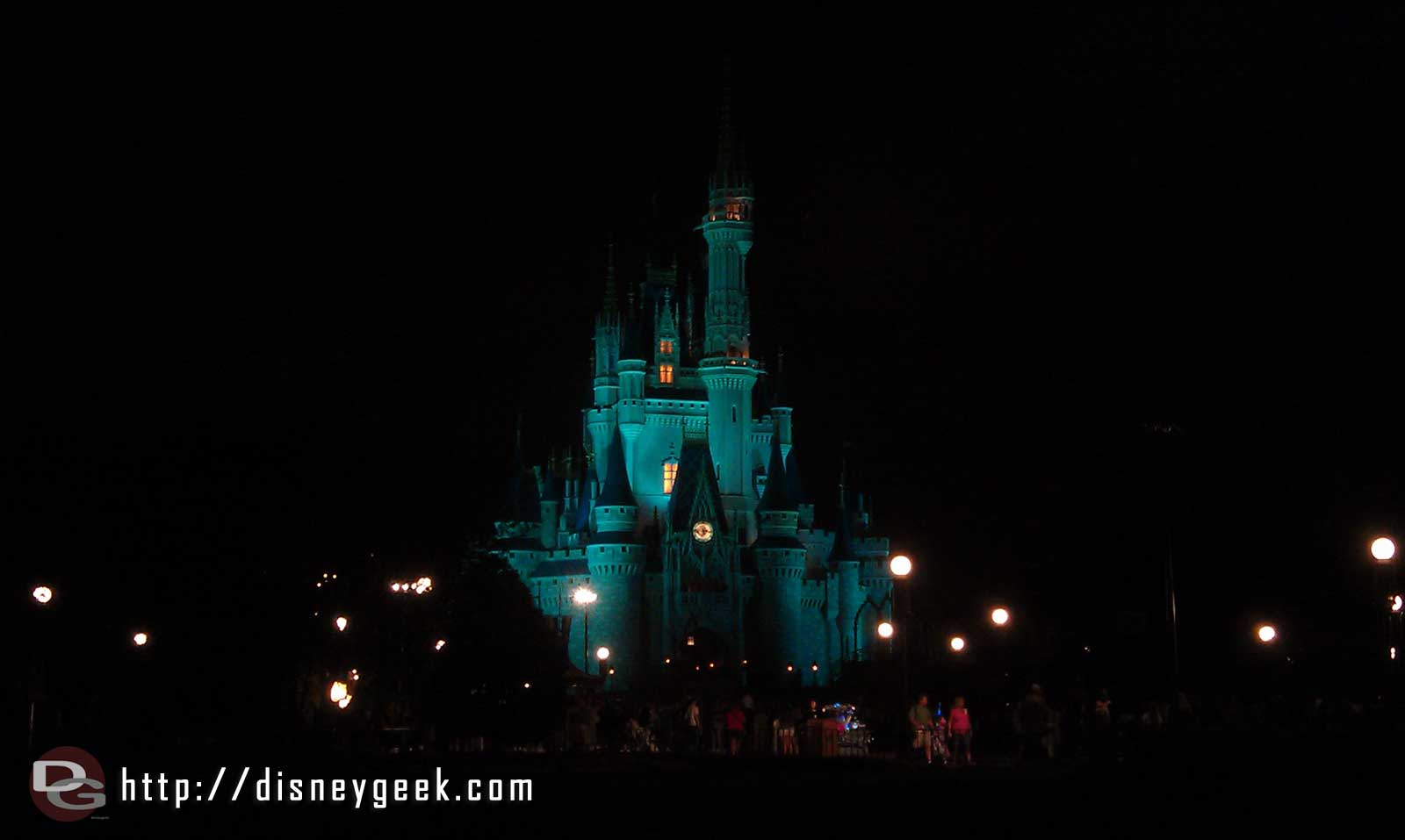 Walking by Cinderella Castle this evening