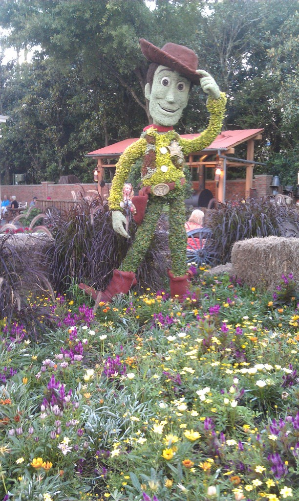 Woody topiary near the American Adventure
