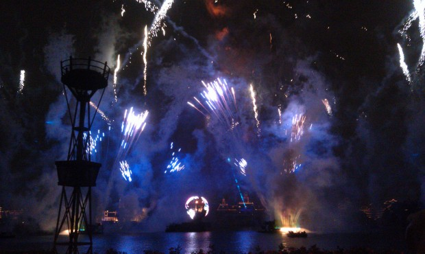 Wrapping up the evening with Illuminations at Epcot