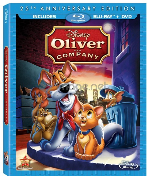 Oliver and Company Blu-ray release August 6, 2013
