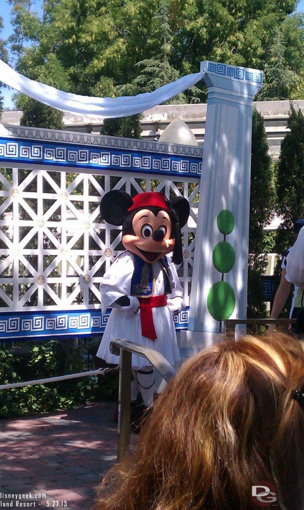 Mickey at - Opa! A Celebration of Greece