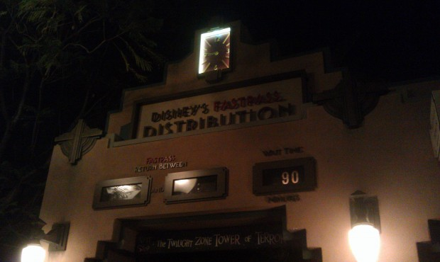 90 min wait for Tower of Terror. GradNite