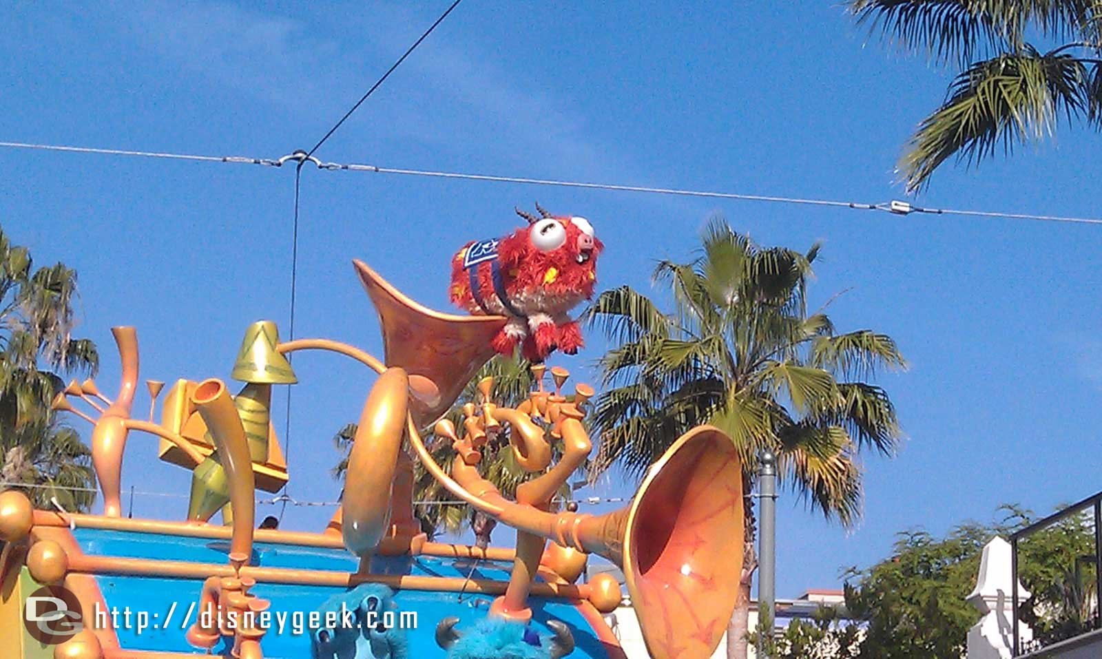 Even  the Fear Tech mascot is in the Pixar Play  Parade