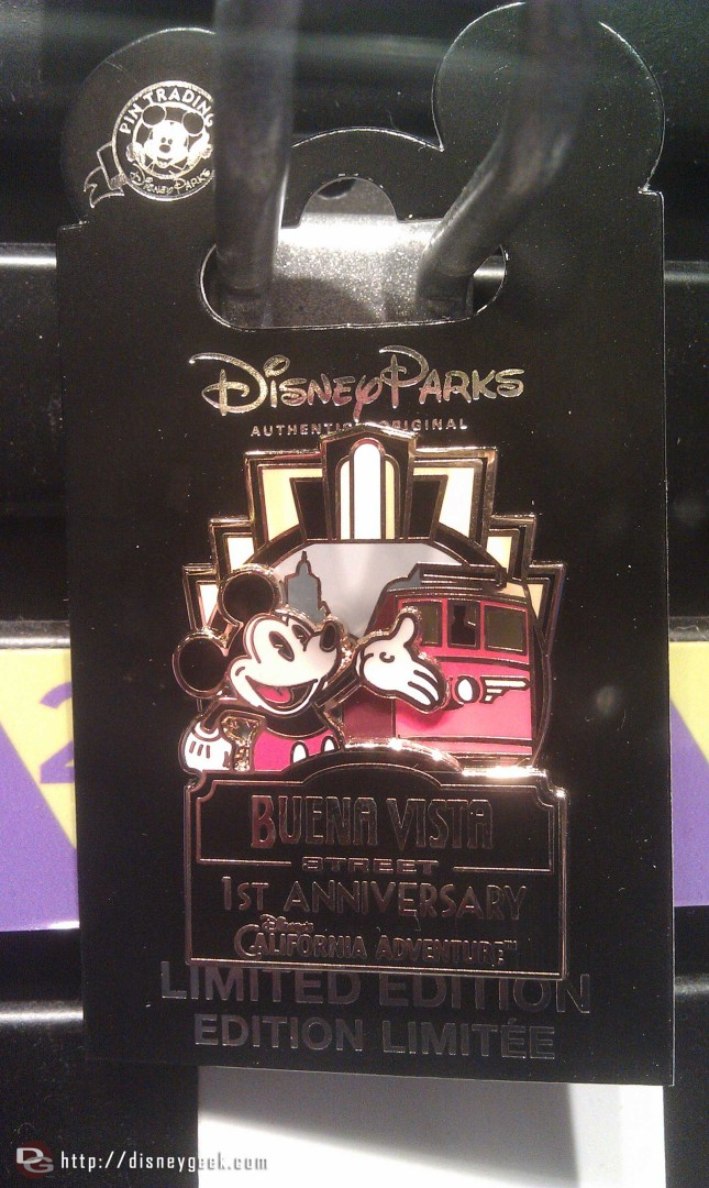 First Anniversary pin for #BuenaVistaStreet