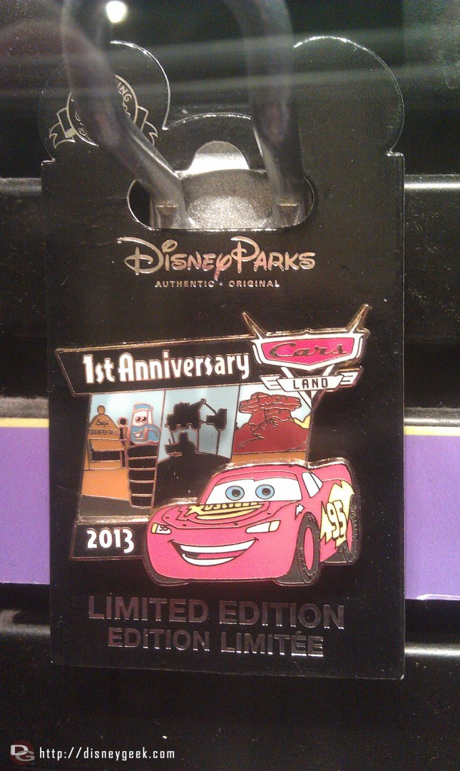 First anniversary pin for #CarsLand