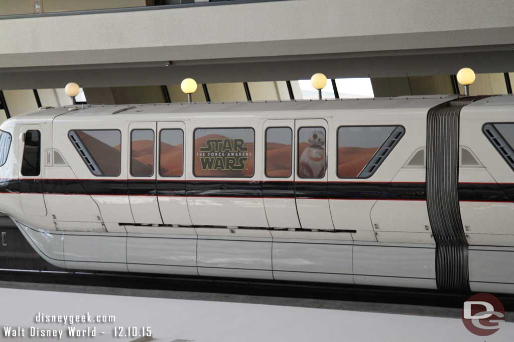 Walt Disney World Monorail Black features Star Wars: The Force Awakens