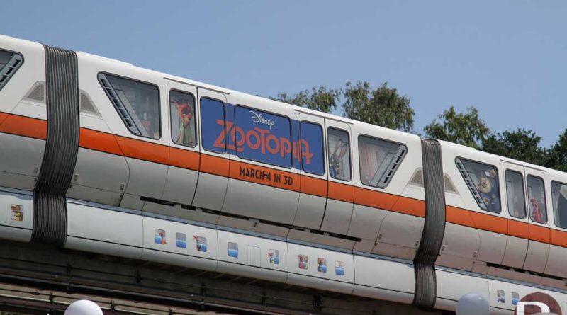 Walt Disney World Monorail Orange - Zootopia Overlay
