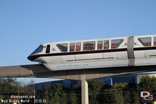 Star Wars: The Force Awakens Monorail @ Epcot
