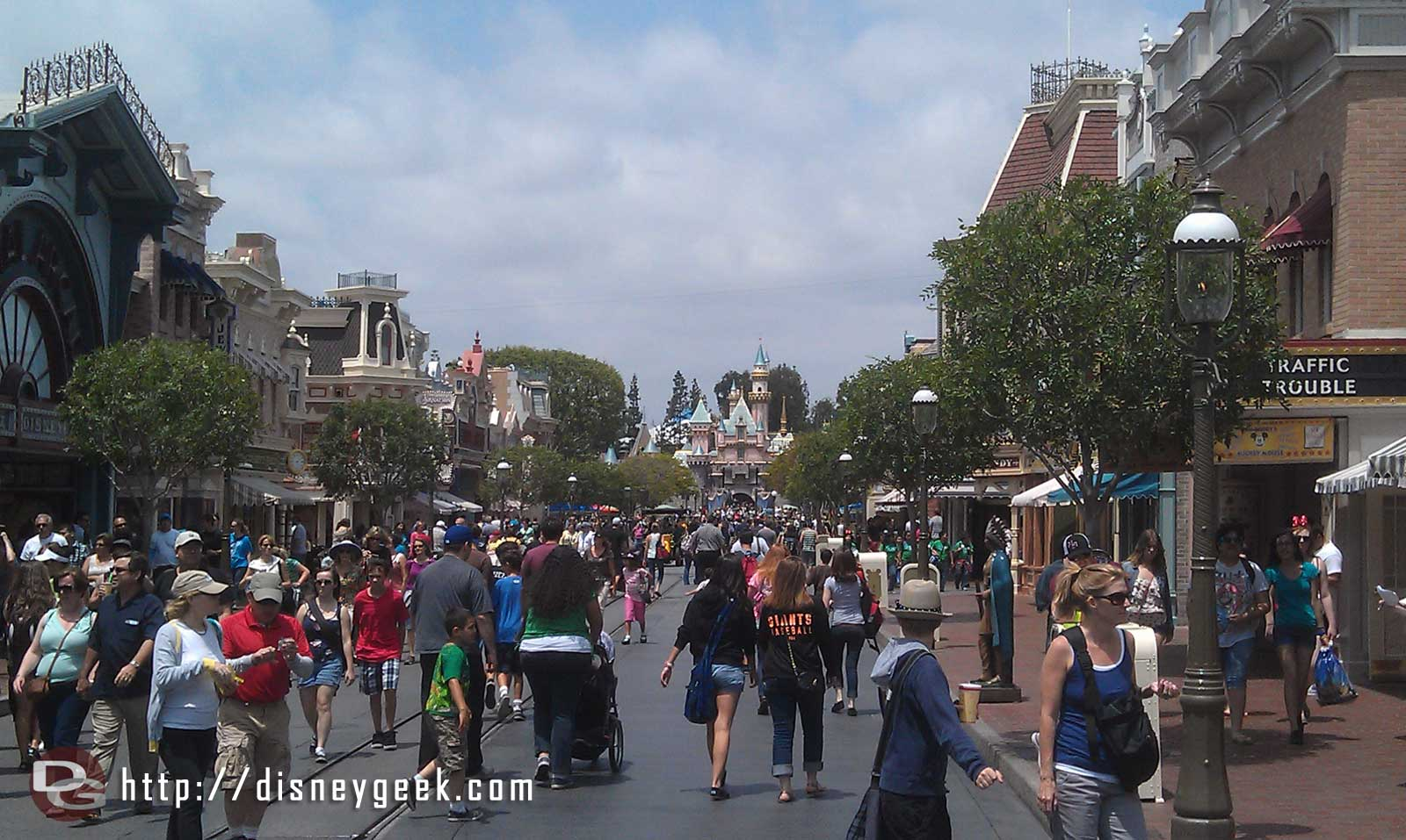 Main Street USA this afternoon