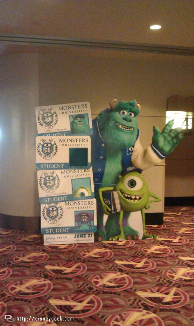 Monsters University photo op in the AMC