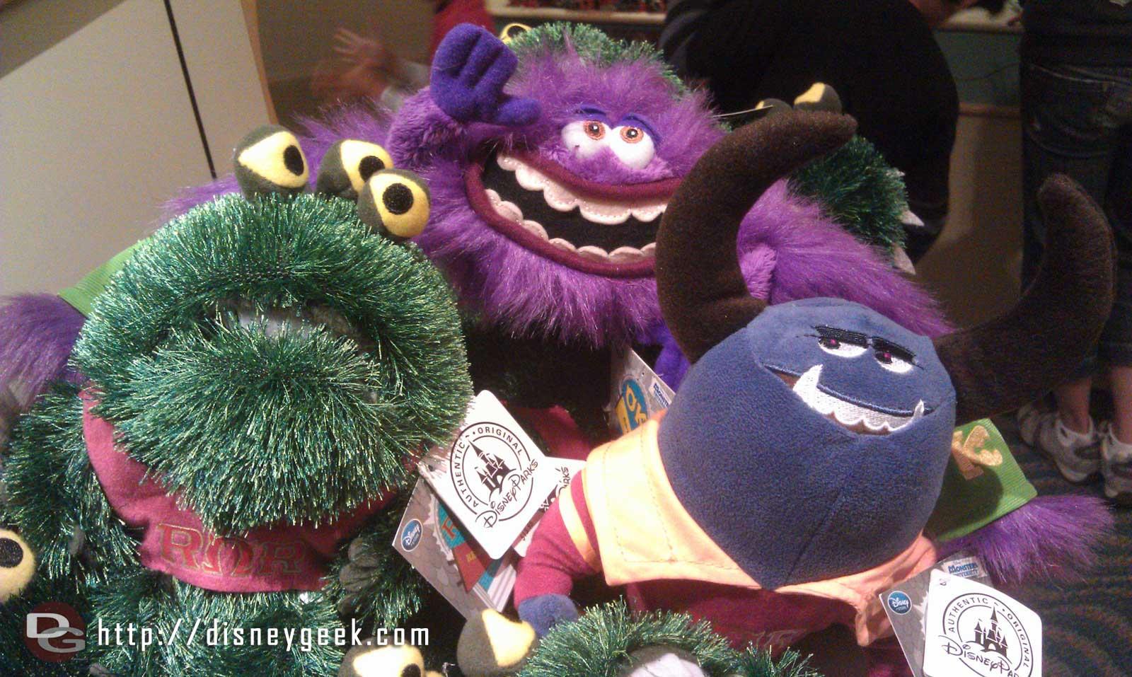 Monsters University plush in Elias & Co