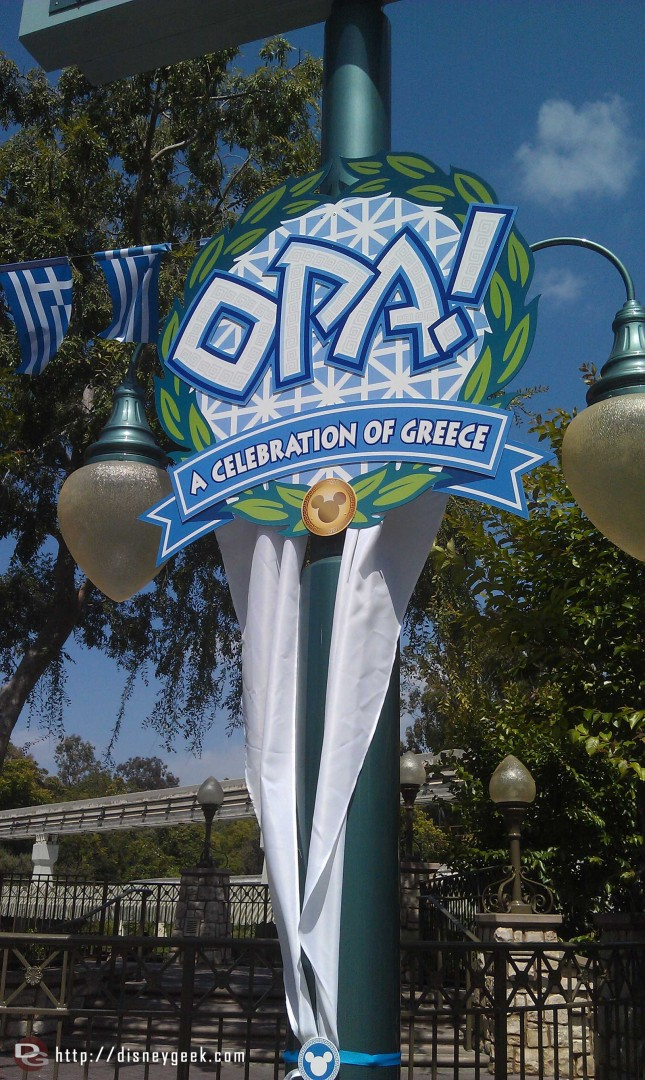 More signage for Opa! the Greek Celebration this weekend