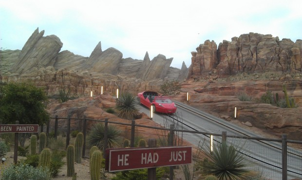 Ornament Valley this morning, the Racers do not open till 9am #CarsLand