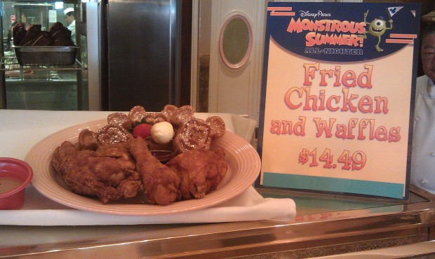 Plaza Inn features chicken and waffles today