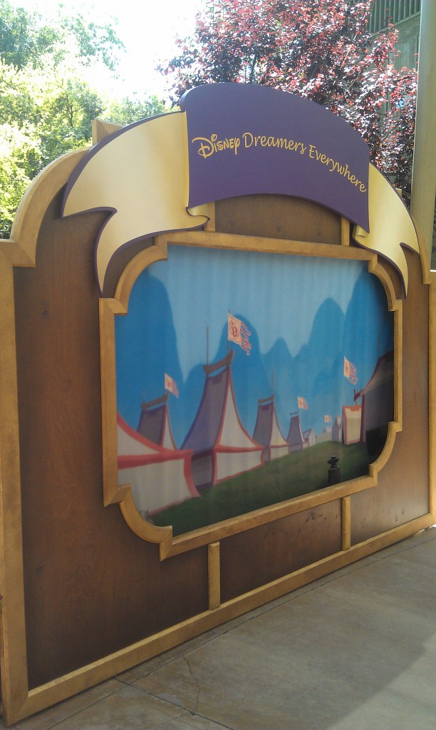 Spotted this backdrop out at the Big Thunder Ranch Jamboree, Disney Dreamers Everywhere.