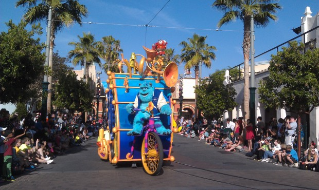 Sulley in the Pixar Play Parade
