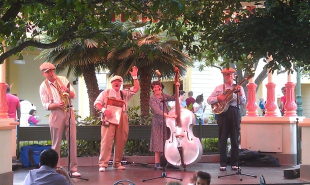 The Ellis Island Boys performing at the Paradise Garden Bandstand