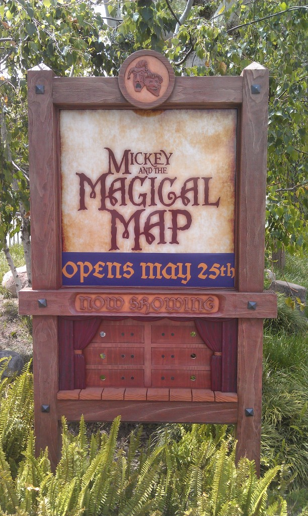 The sign for Mickey and the Magical Map