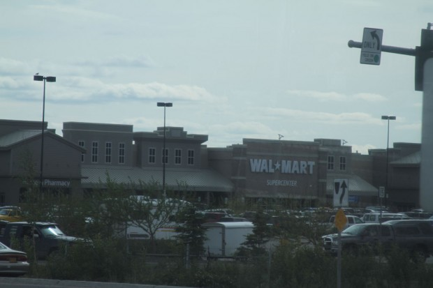 @JustJeanine - Drove by Walmart in Fairbanks on the way to the hotel, so here you go.  #Alaska