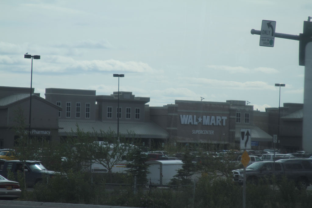 @JustJeanine – Drove by Walmart in Fairbanks on the way to the hotel, so here you go.  #Alaska
