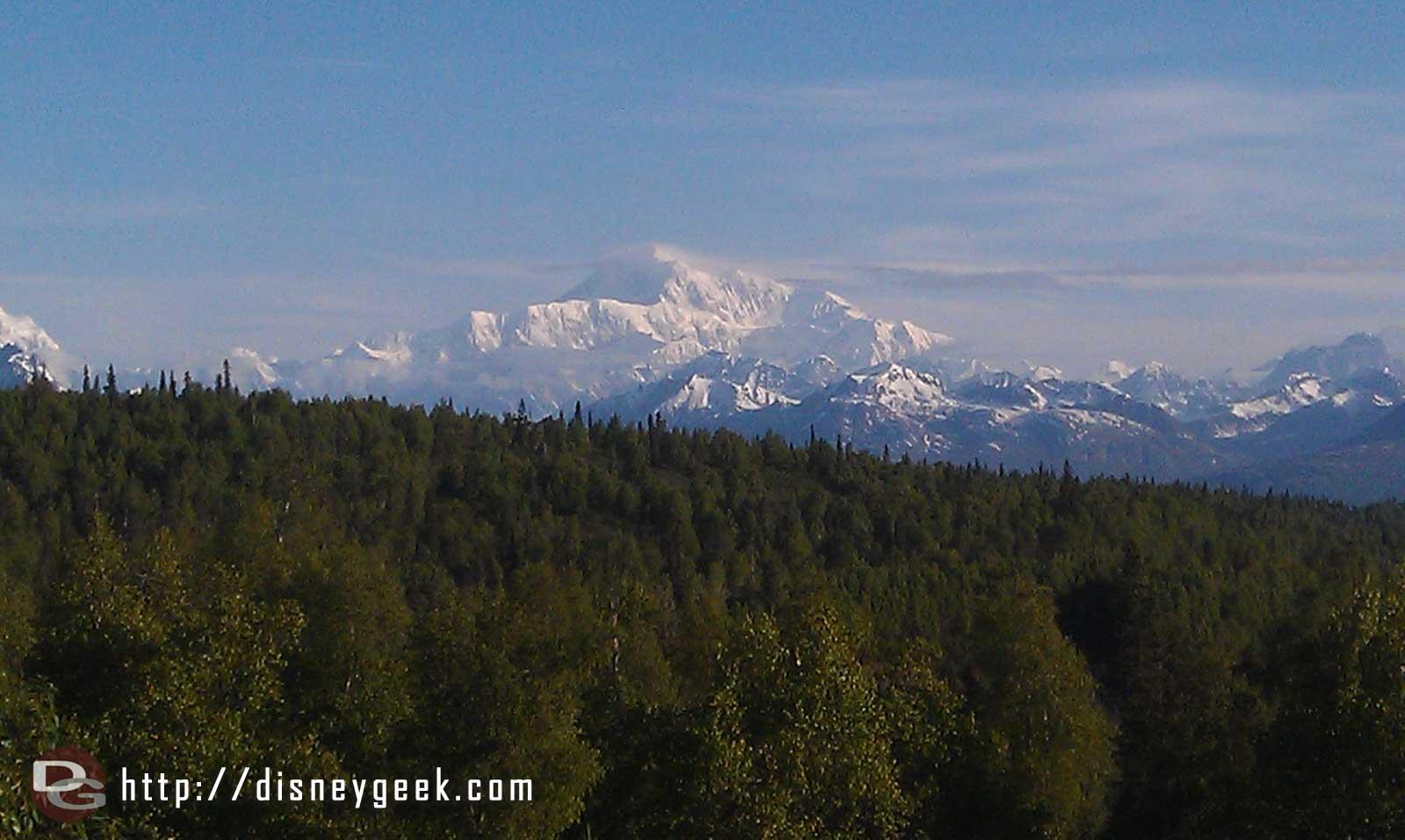 A tighter shot of Mt McKinley #Alaska