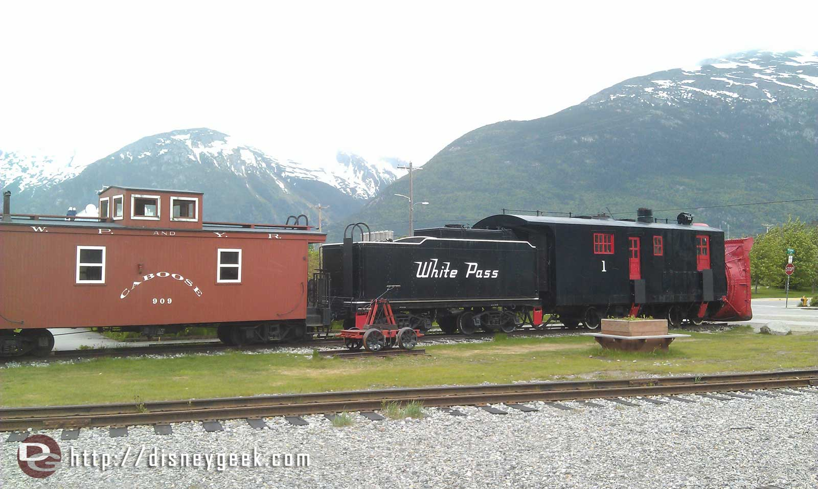 A train on display in Skagway #Alaska