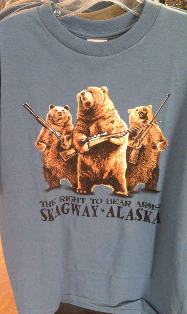 Cousins of the Country Bears?  on a shirt in Skagway #Alaska