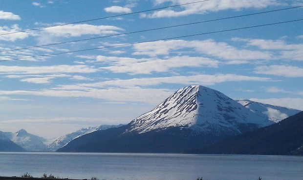 From onboard the train, I missed the name of the mountain #Alaska