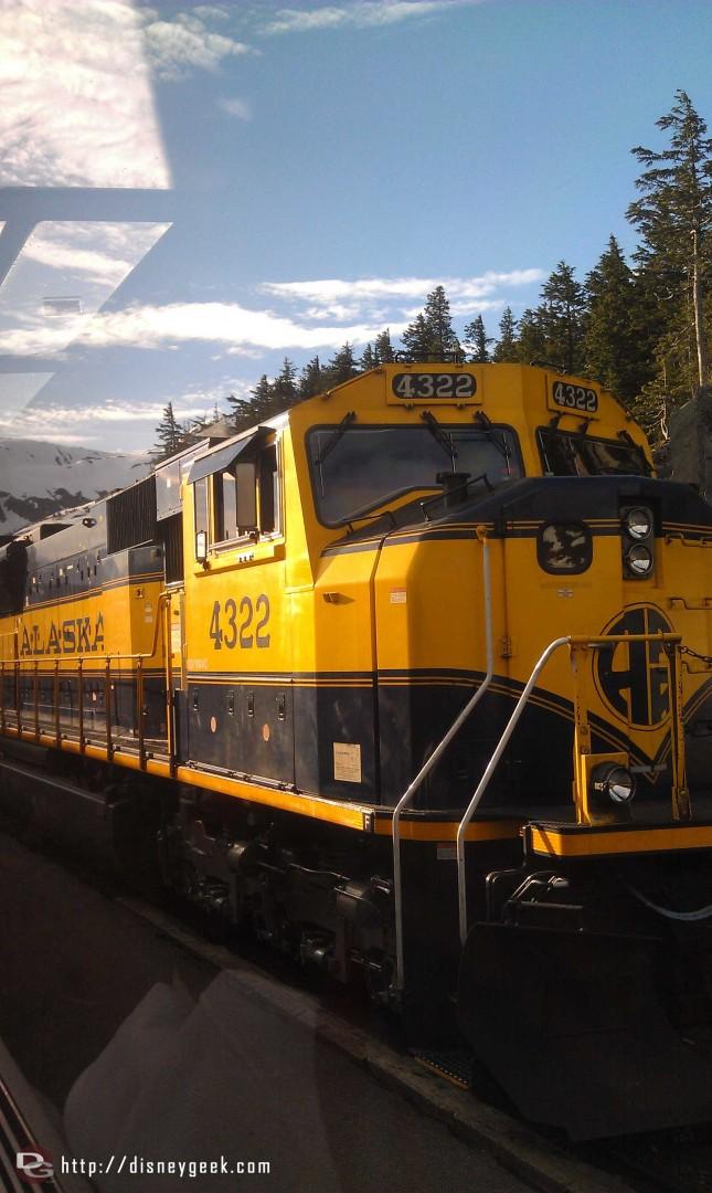 In Whittier #Alaska this morning boarding a train to Denali