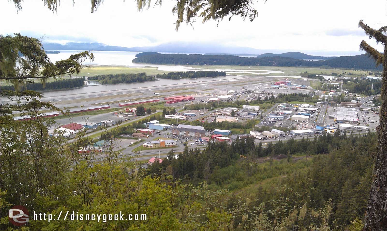 Juneau International Airport from Glacier Gardens #Alaska