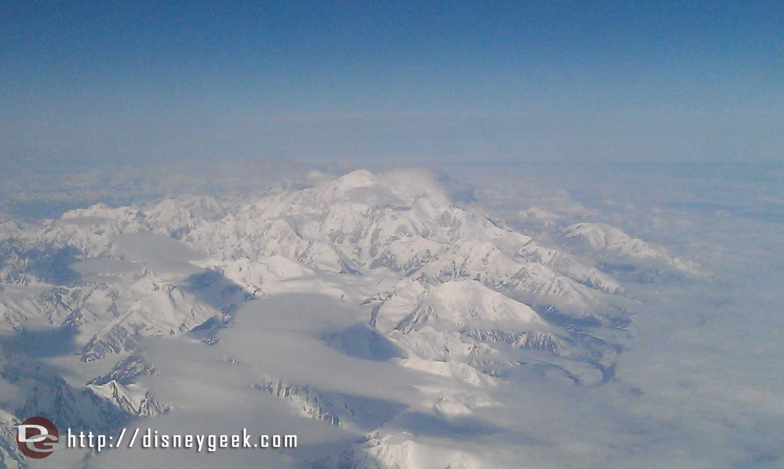 Mt McKinley from the plane  #Alaska
