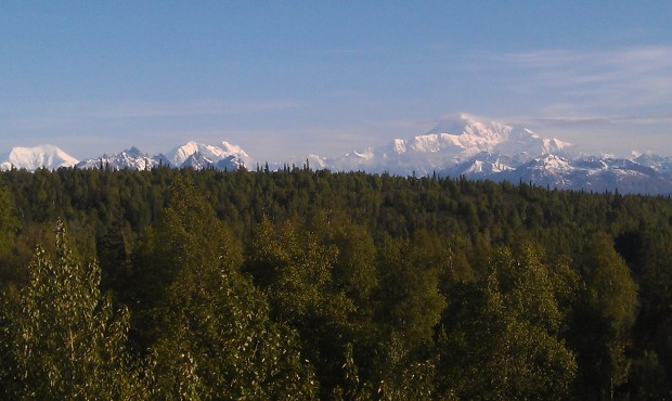 Mt McKinley this clear morning #Alaska