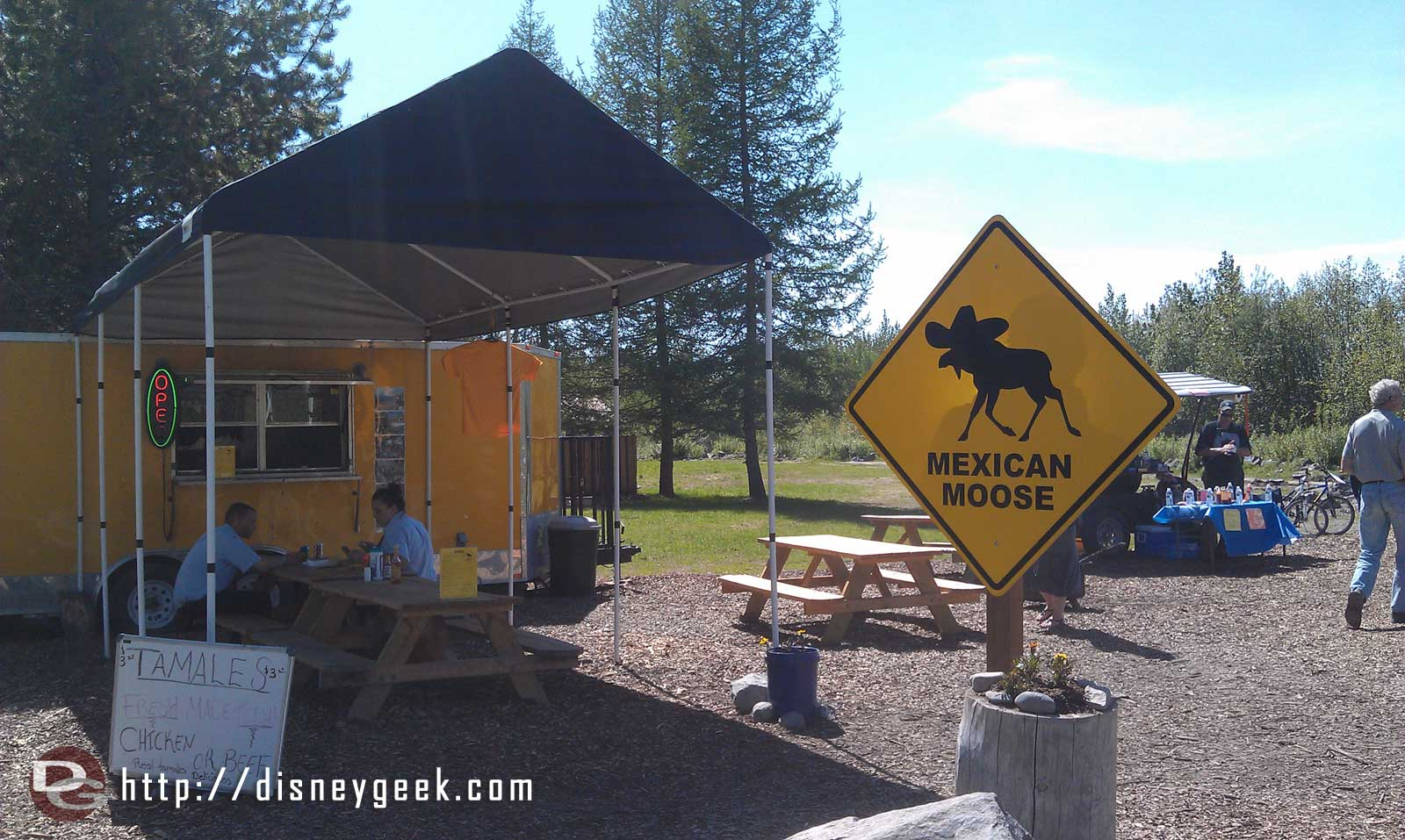 One of the more unique dining options… the Mexican Moose #Alaska