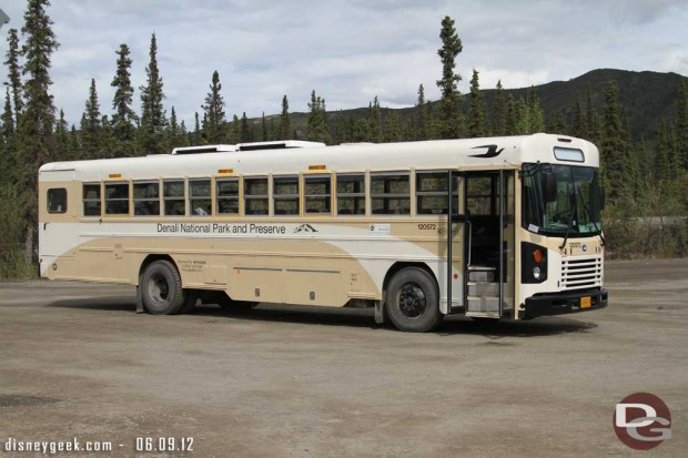 Our bus for the Denali Tundra Tour yesterday #Alaska
