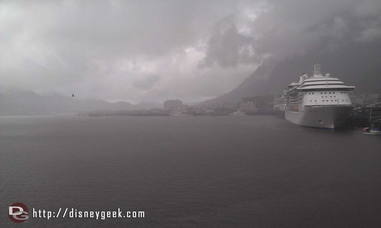 The weather has turned rainy in Juneau glad I went on an early excursion #Alaska
